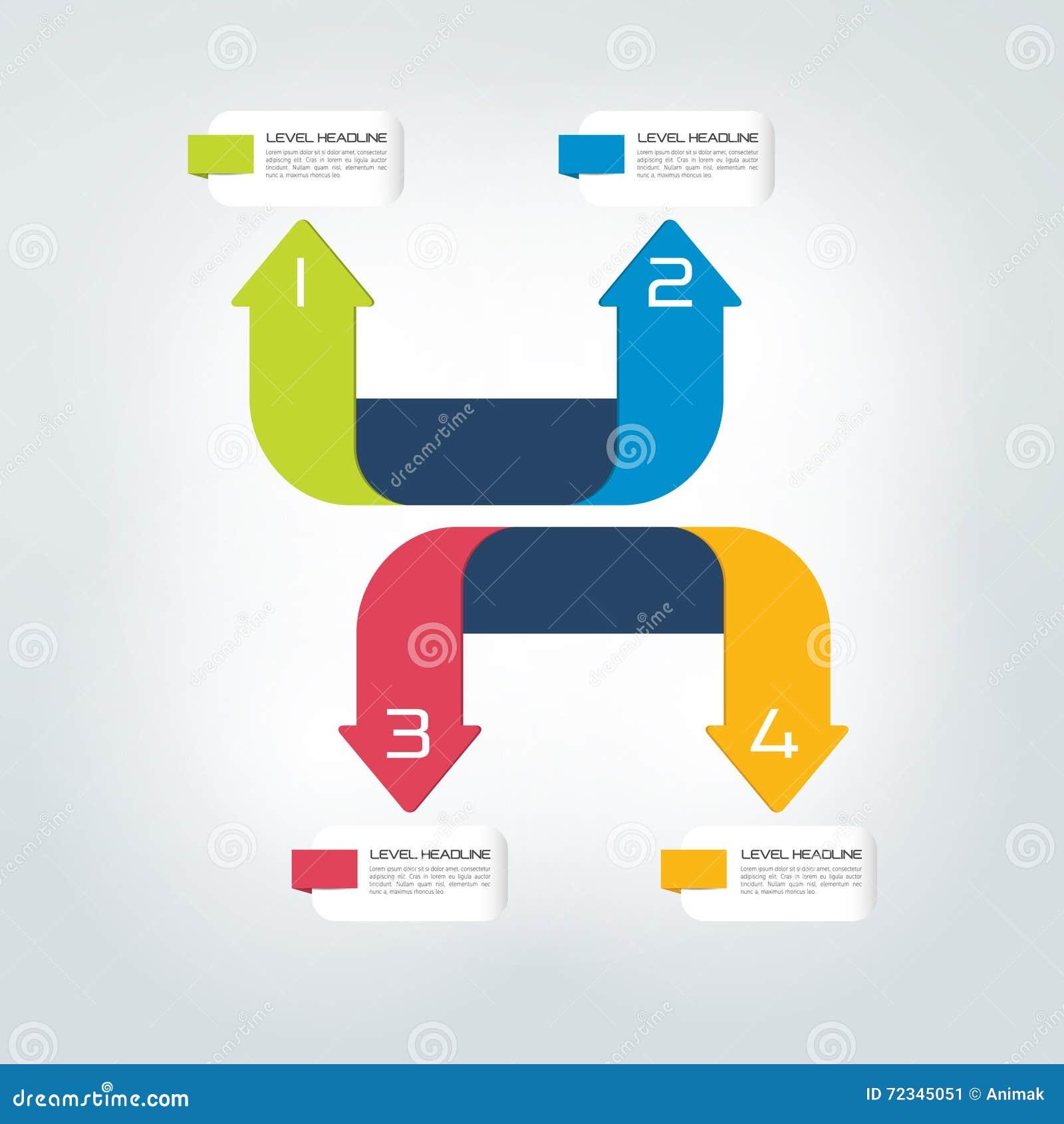 Four directions color arrows design diagram chart template four directions color arrows design diagram chart template infographic ccuart Images