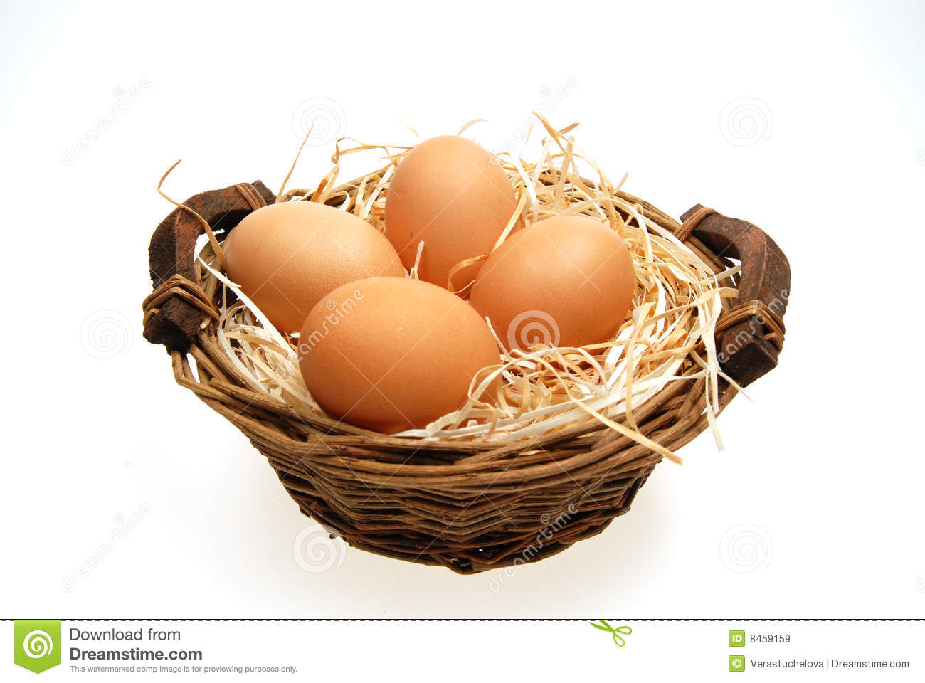 four eggs in basket stock image image of home diet basket 8459159. Black Bedroom Furniture Sets. Home Design Ideas