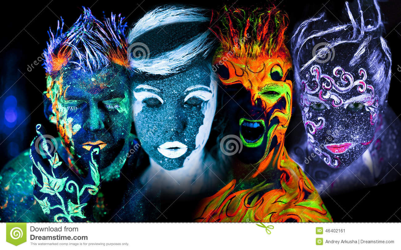 Four Elements Art : Four elements: earth fire air and water stock image of