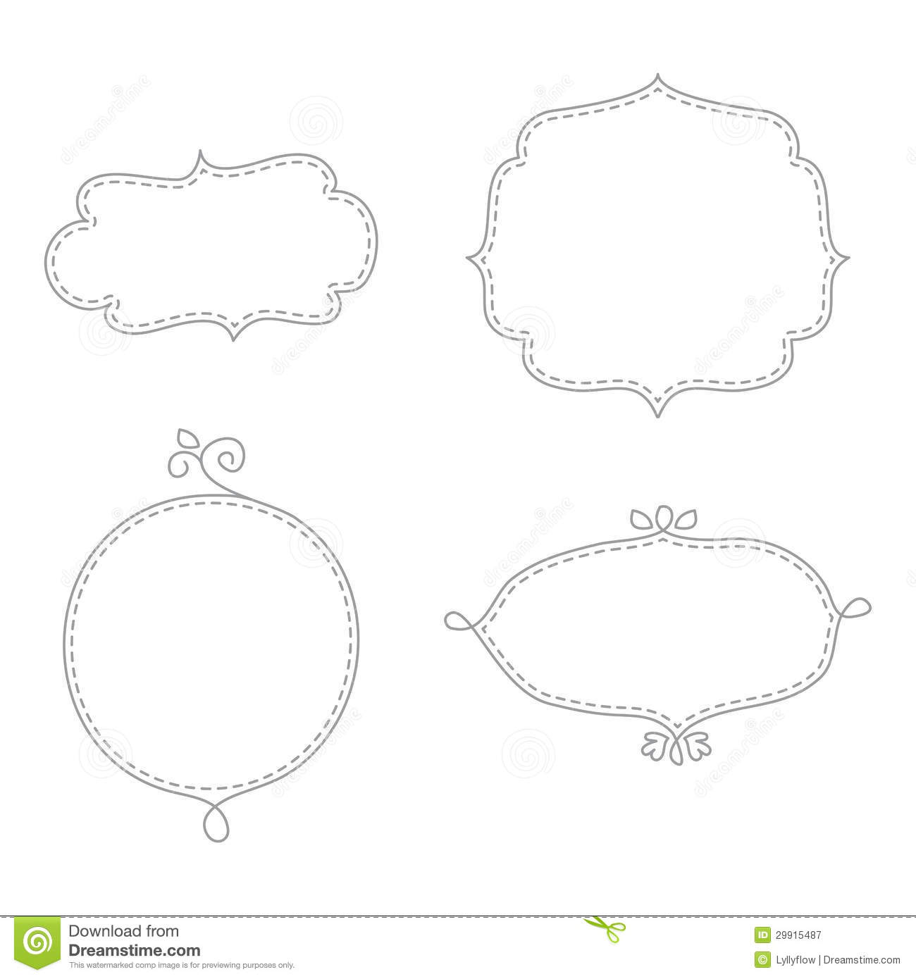 Doodle frames stock vector. Image of ornamental, clip ...