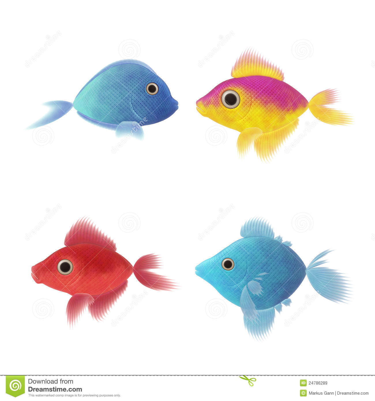four fish illustrations royalty free stock images image 24786289 koi fish vector art fish scale vector art