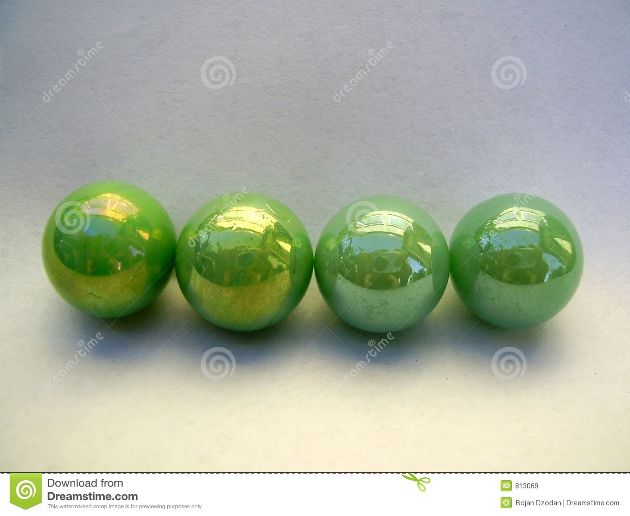Four Green Marbles Royalty Free Stock Images Image 813069