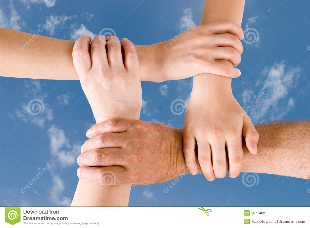 four hands joined together stock photo image of communication 2677462