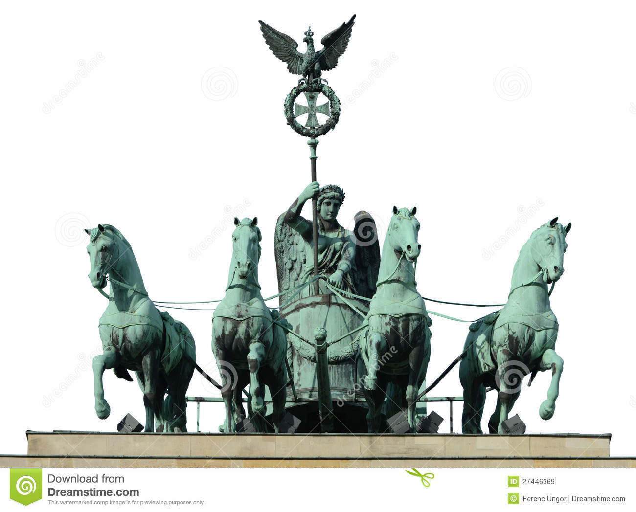 Four horse on brandenburg gate royalty free stock images for Porte de brandebourg