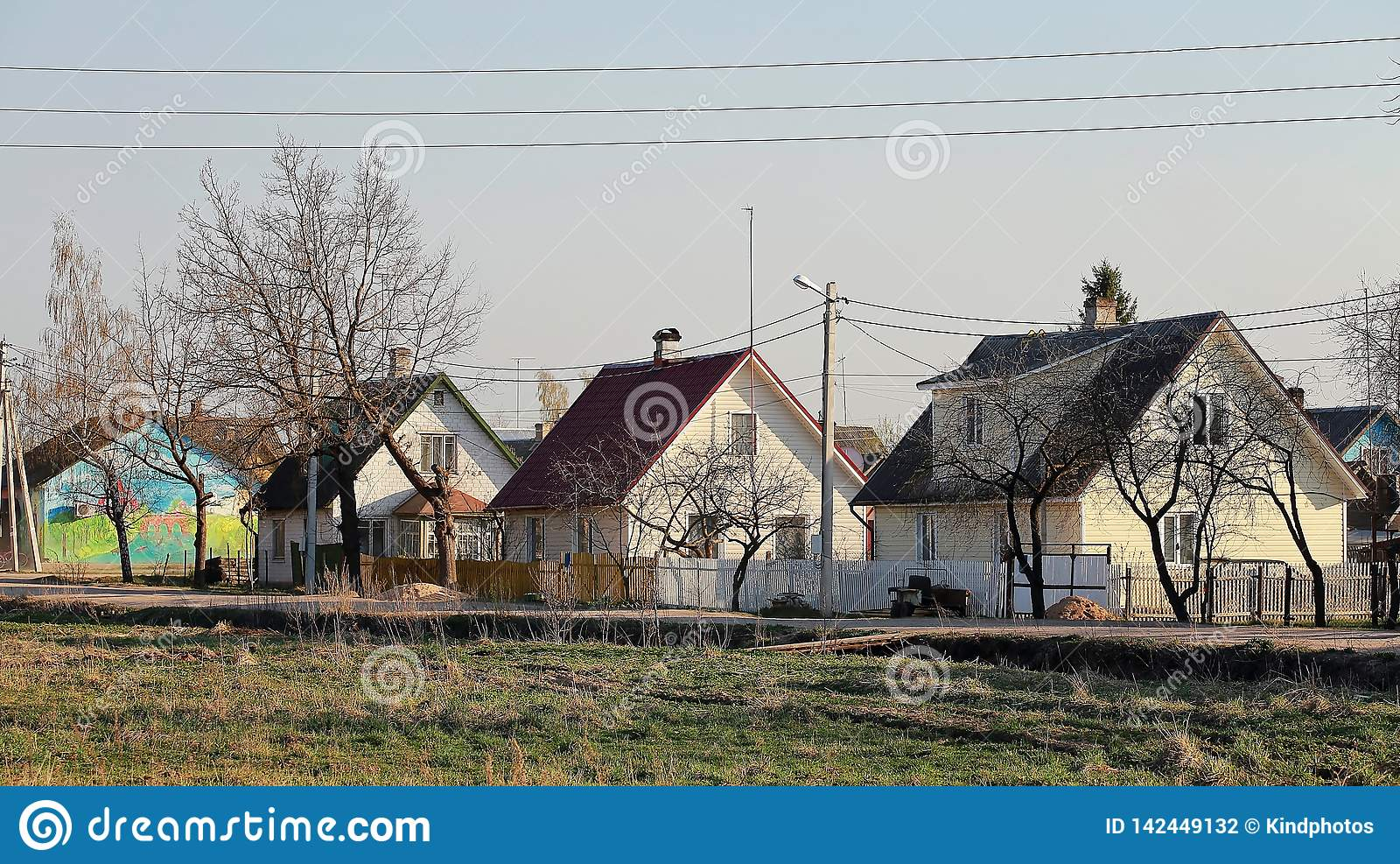 Houses in the town of Pechoriy, Pskov region