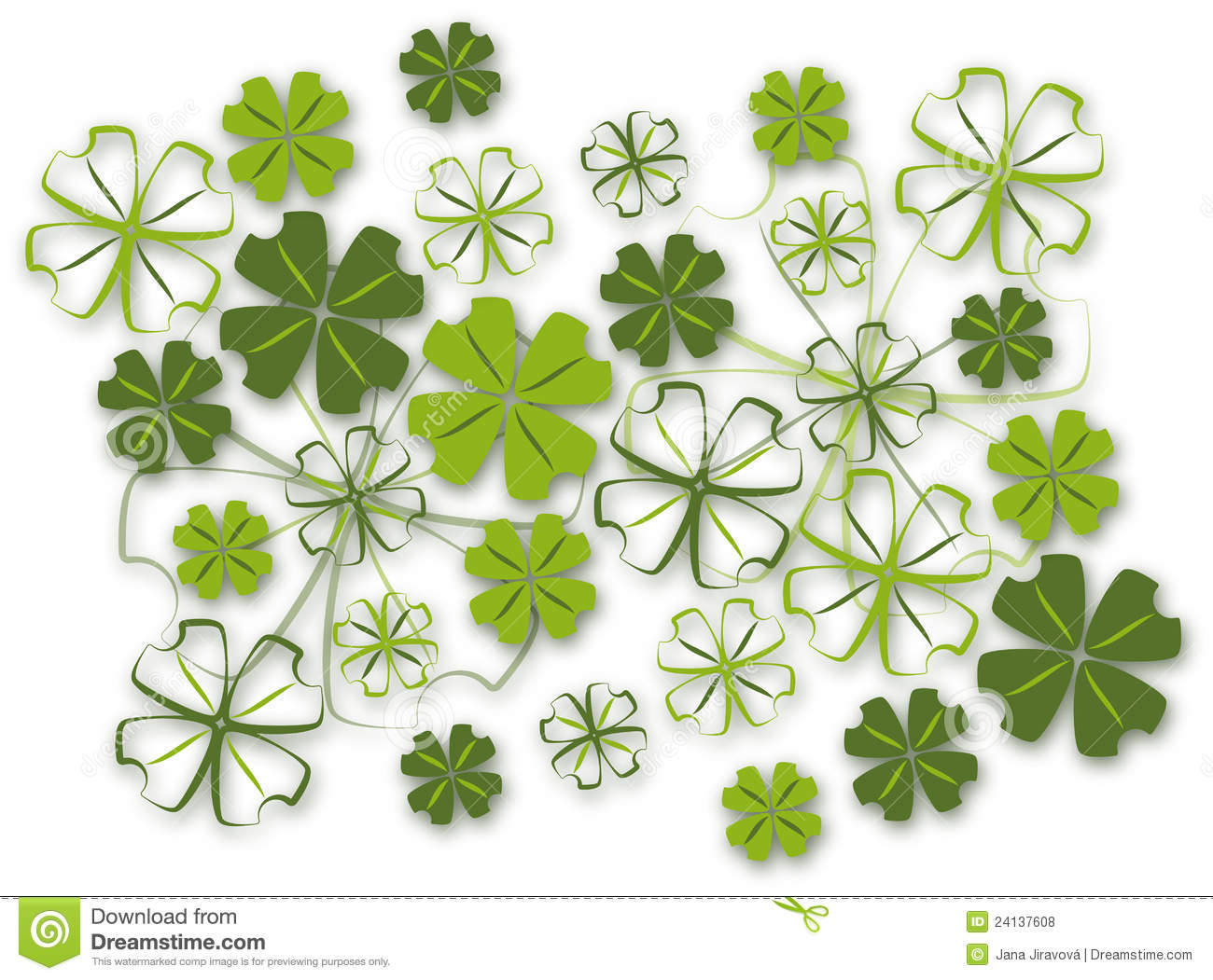 four leaf clover background royalty free stock photos image