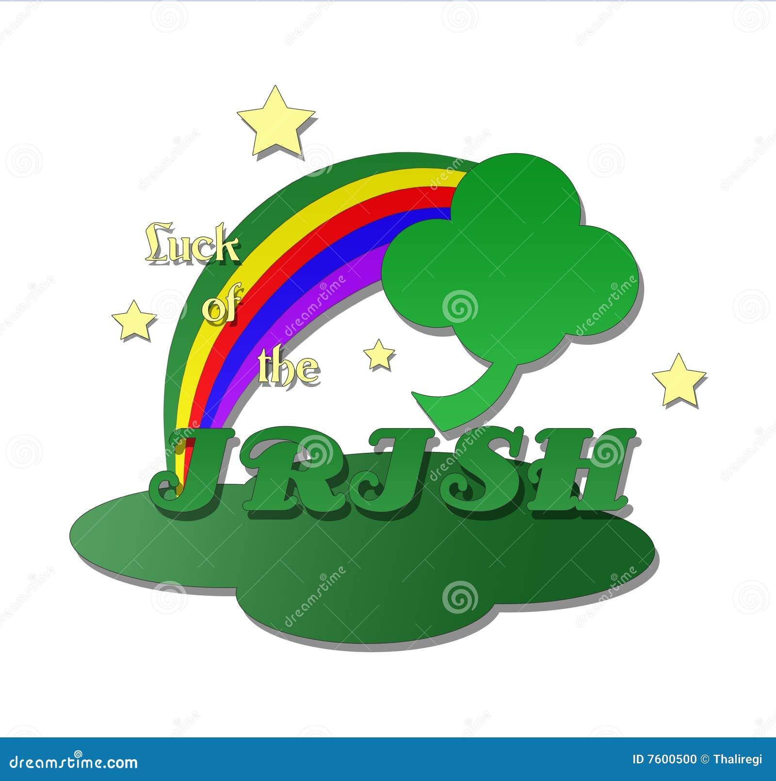 four leaf clover with rainbow stock photo image 7600500