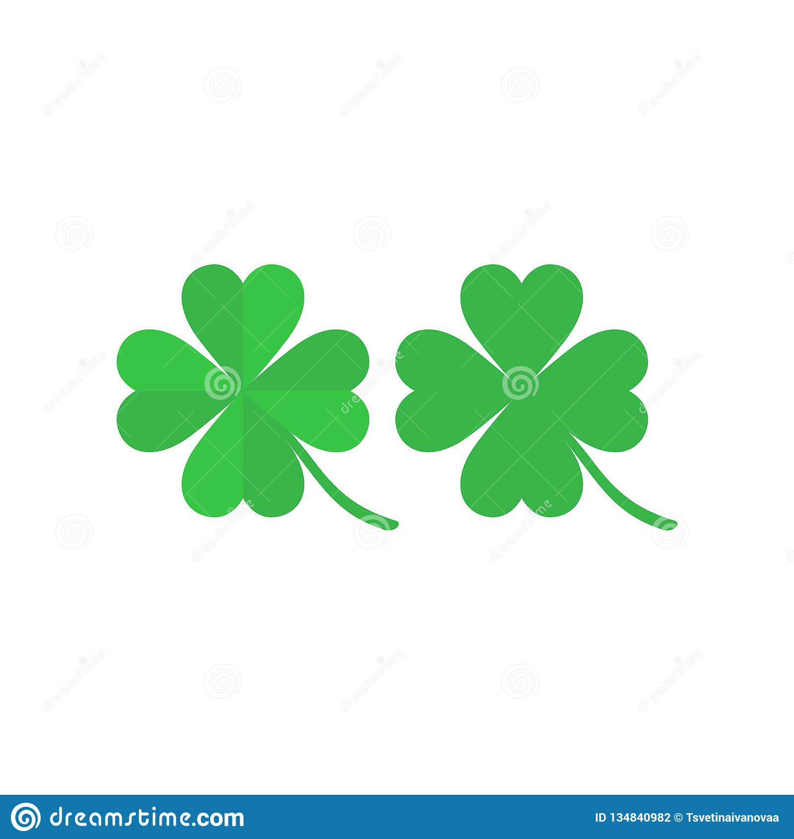 Four Leaf Clover Simple Vector Colorful Icon Set. Stock ...