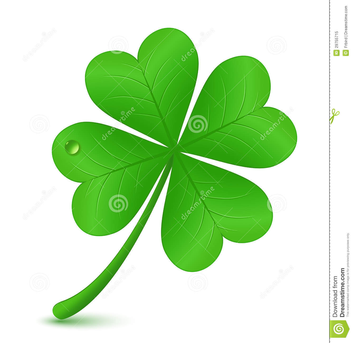 Four Leaf Clover. St. Patrick's Day Symbol Royalty Free Stock Photo ...