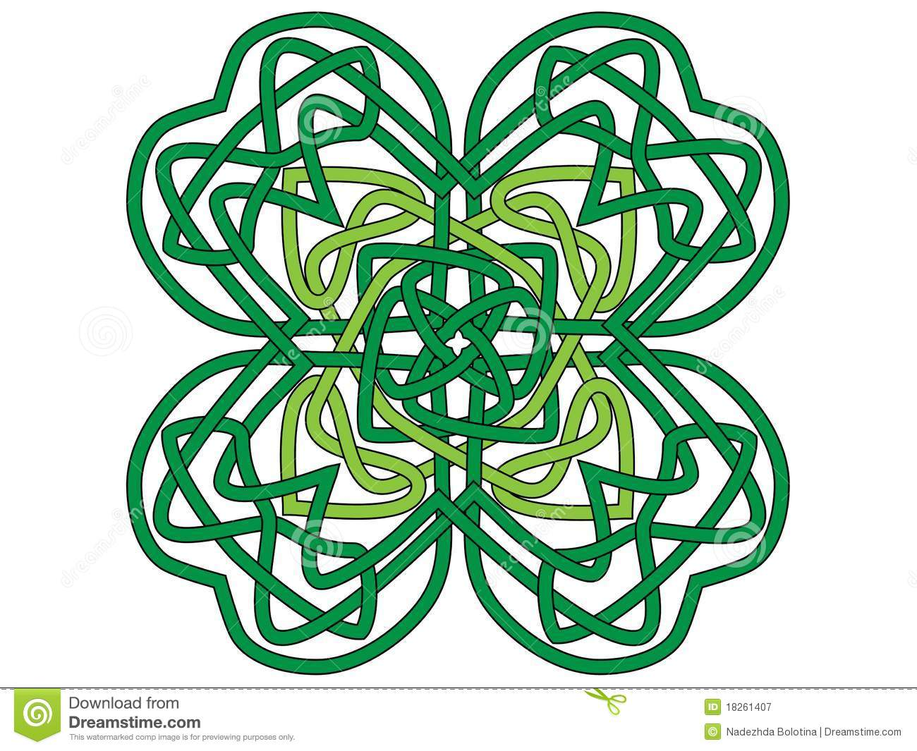 four leaf clover vector ornament royalty free stock photography