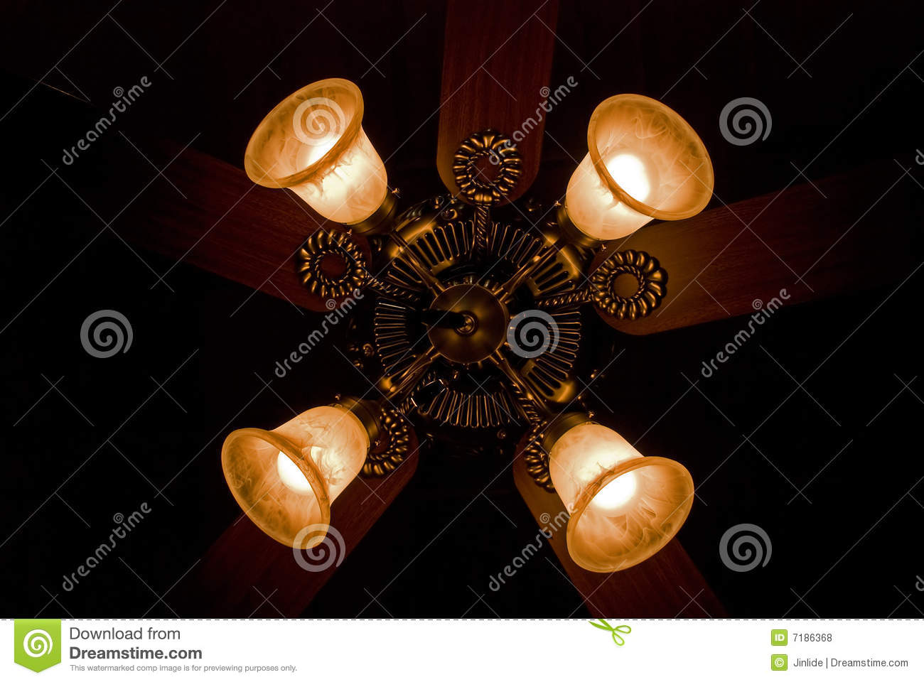 Four Lights On Fan Royalty Free Stock Photos Image 7186368