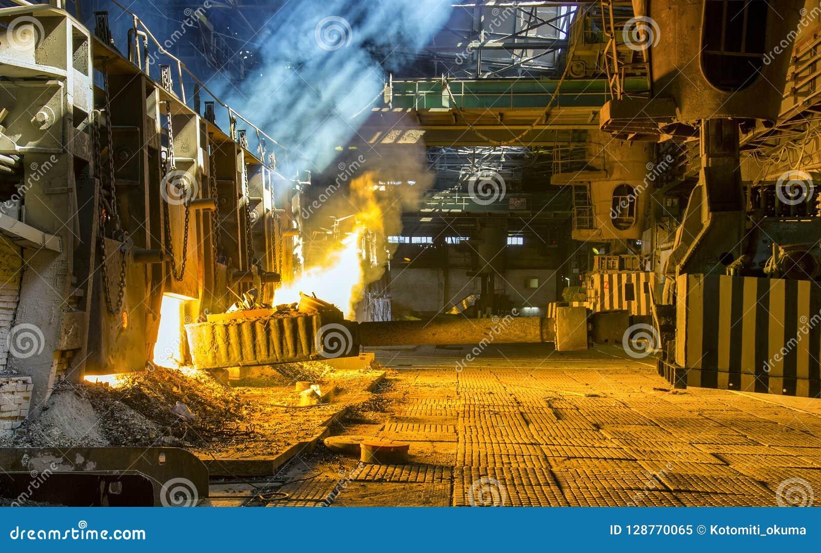 Four Martin à une usine métallurgique