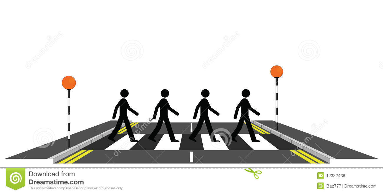 Line Drawing Of Zebra Crossing : Four men on a zebra crossing stock vector image