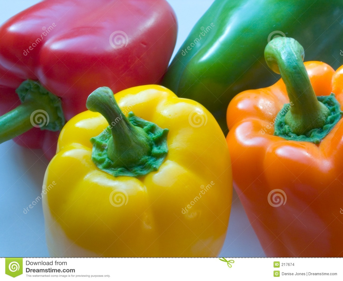 Download Four Mixed Peppers stock photo. Image of bite, background - 217674