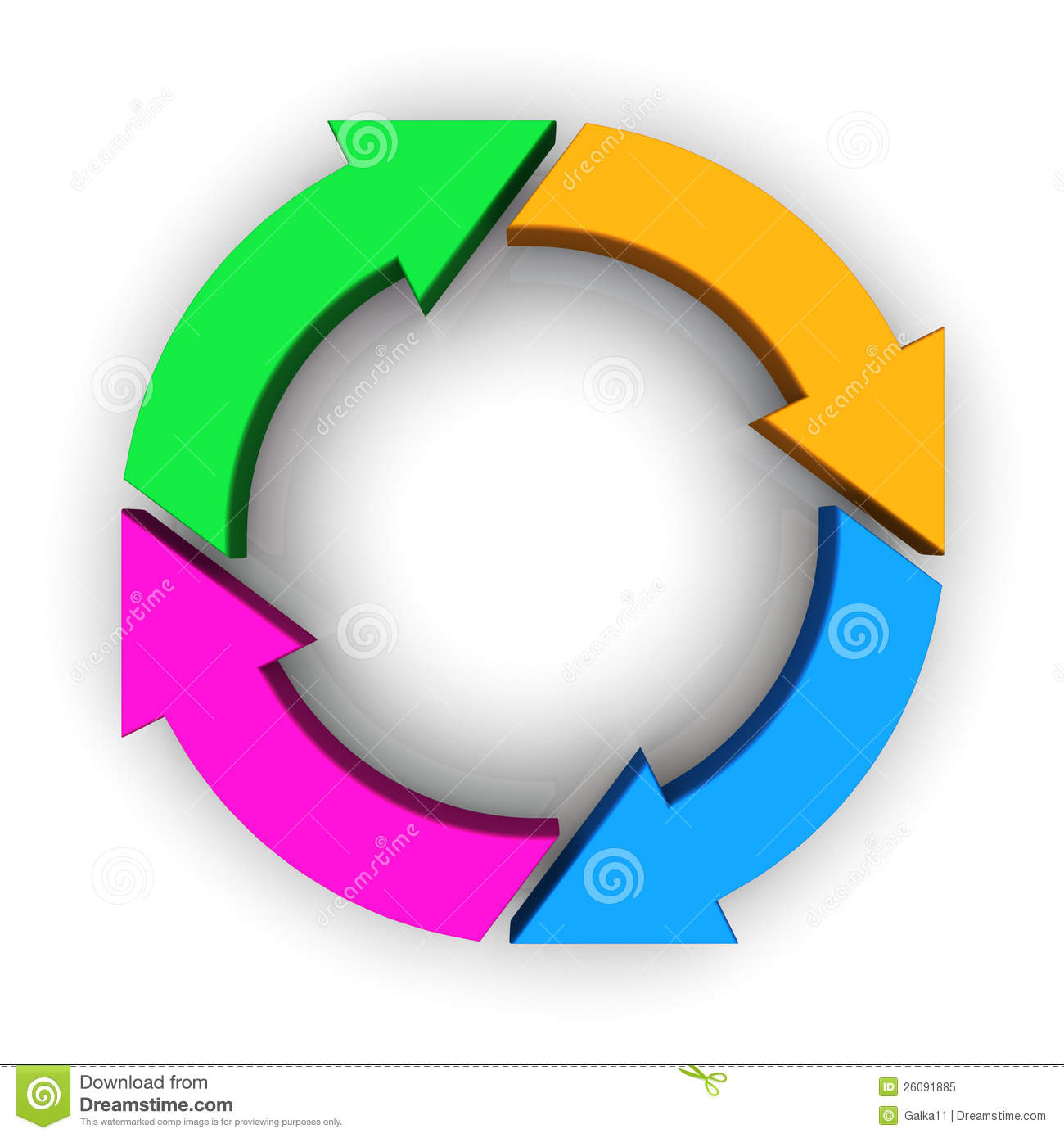 Four Multicolor Circular Arrows Royalty Free Stock Photo - Image ...