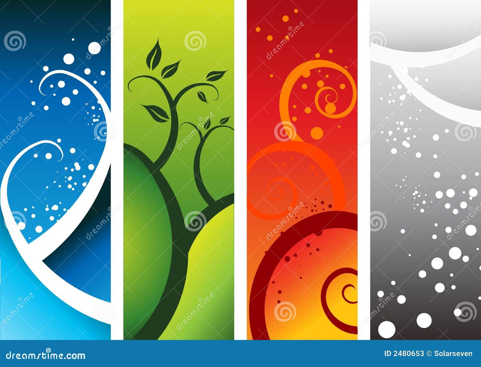 Four Natural Elements Stock Photos Image 2480653