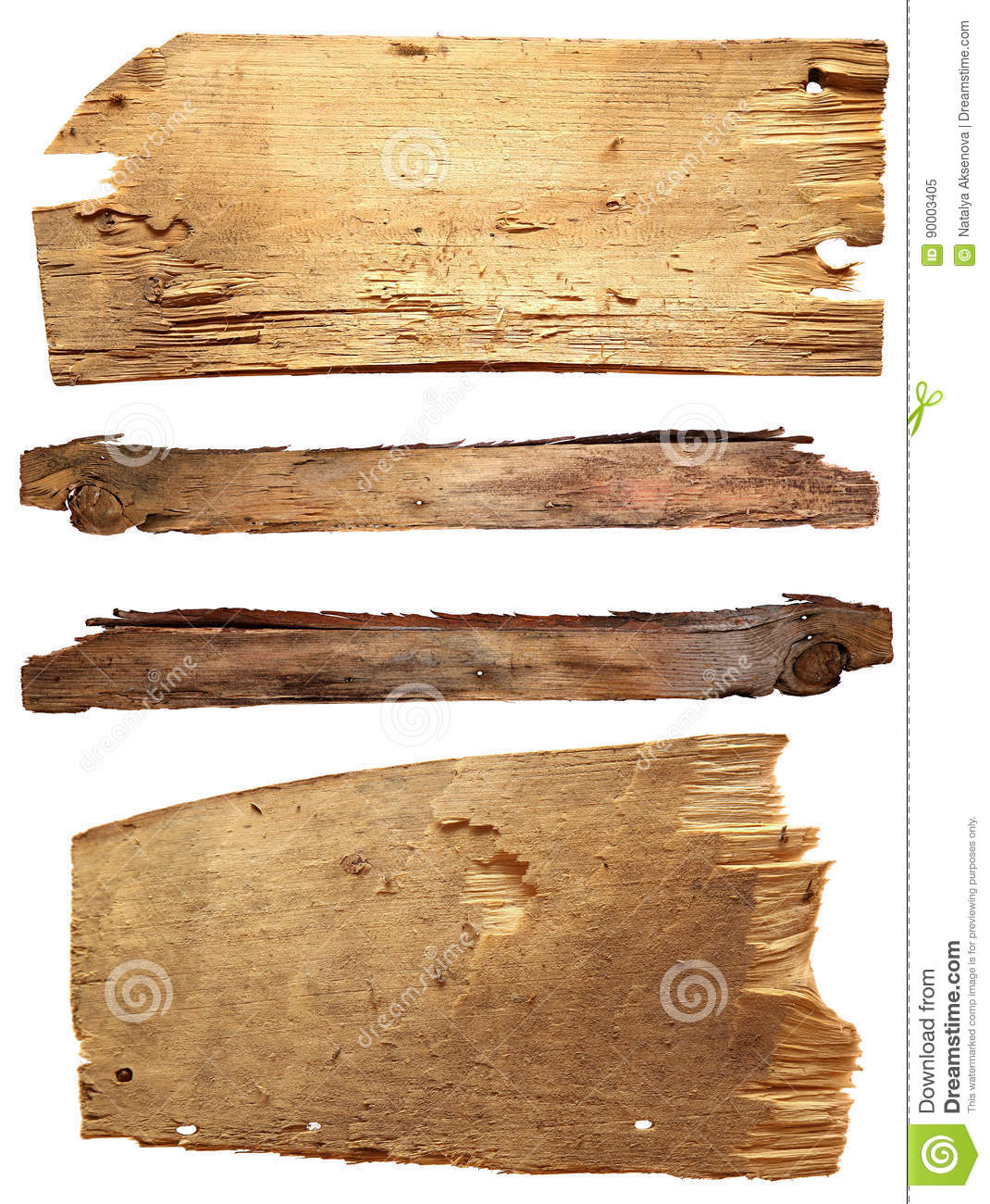 Download Four Old Wooden Boards Isolated On A White Background. Old Wood Plank Stock Image - Image of billboard, grunge: 90003405