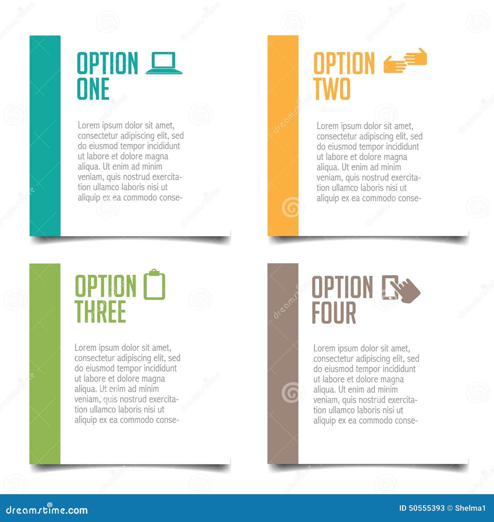 Poster design article - Poster Design Article Four Options Infographic Design