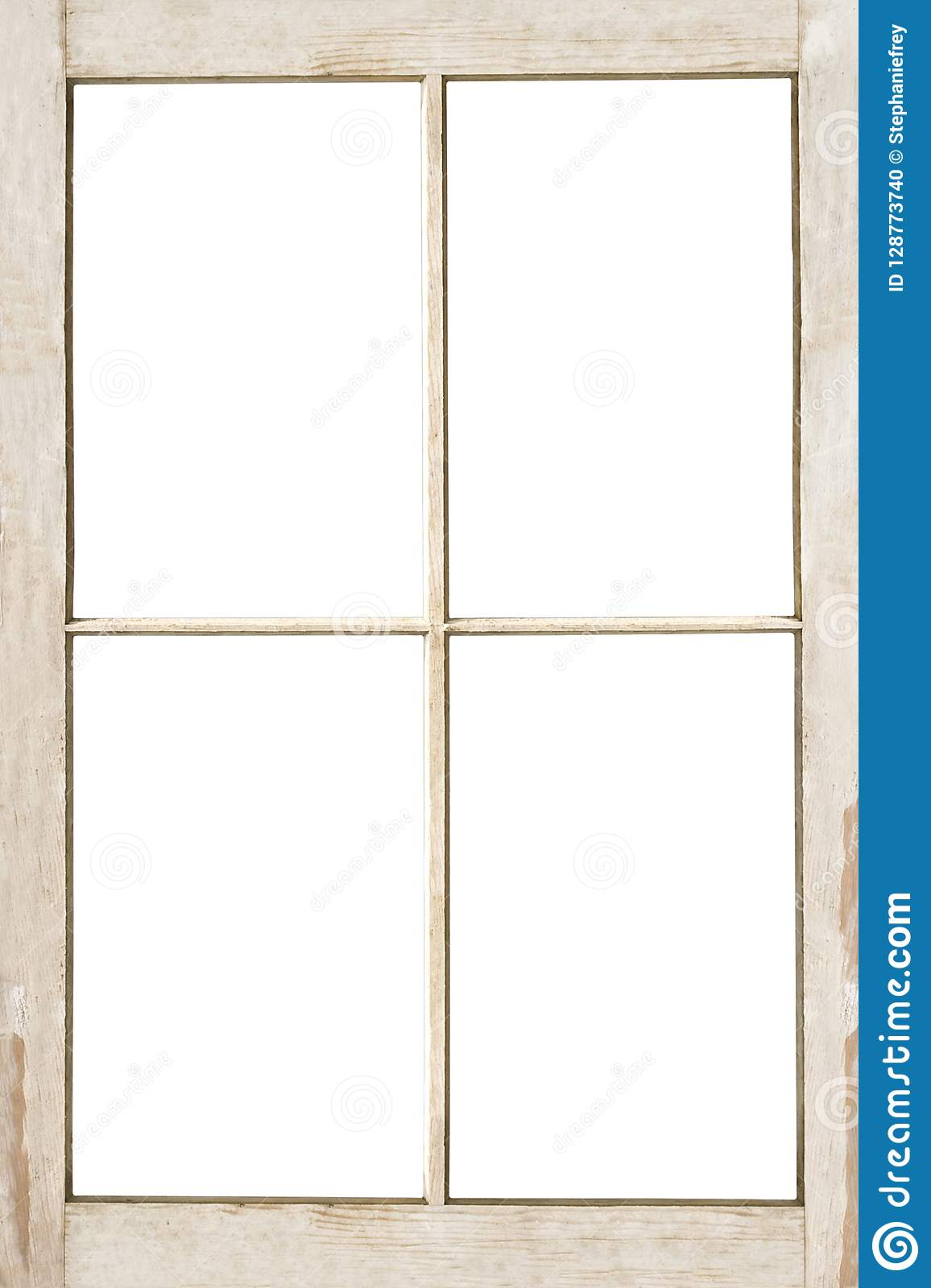 Four Pane Window Frame Isolated On White Stock Photo Image Of Copy