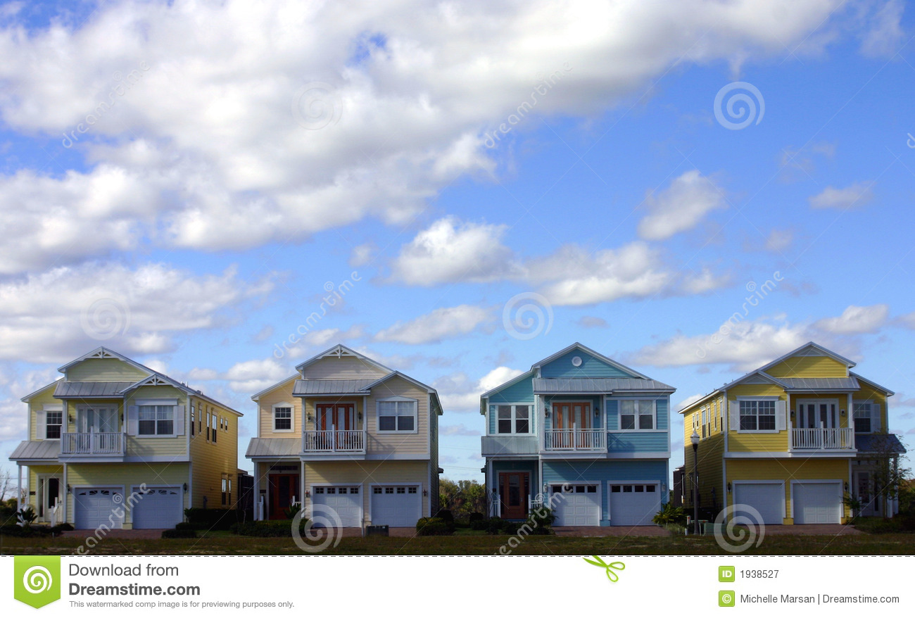 four pastel houses royalty free stock photography image