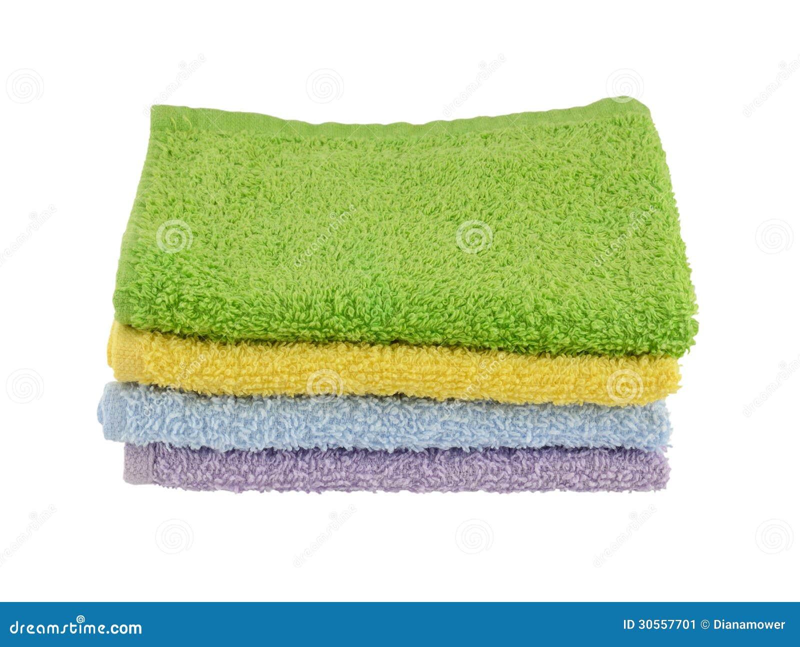 Four Pastel wash cloths stock image. Image of isolated ...