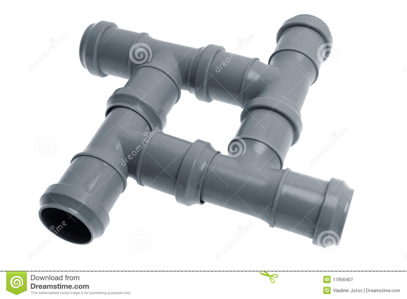 Four Plastic Sewer Pipes Composition Royalty Free Stock