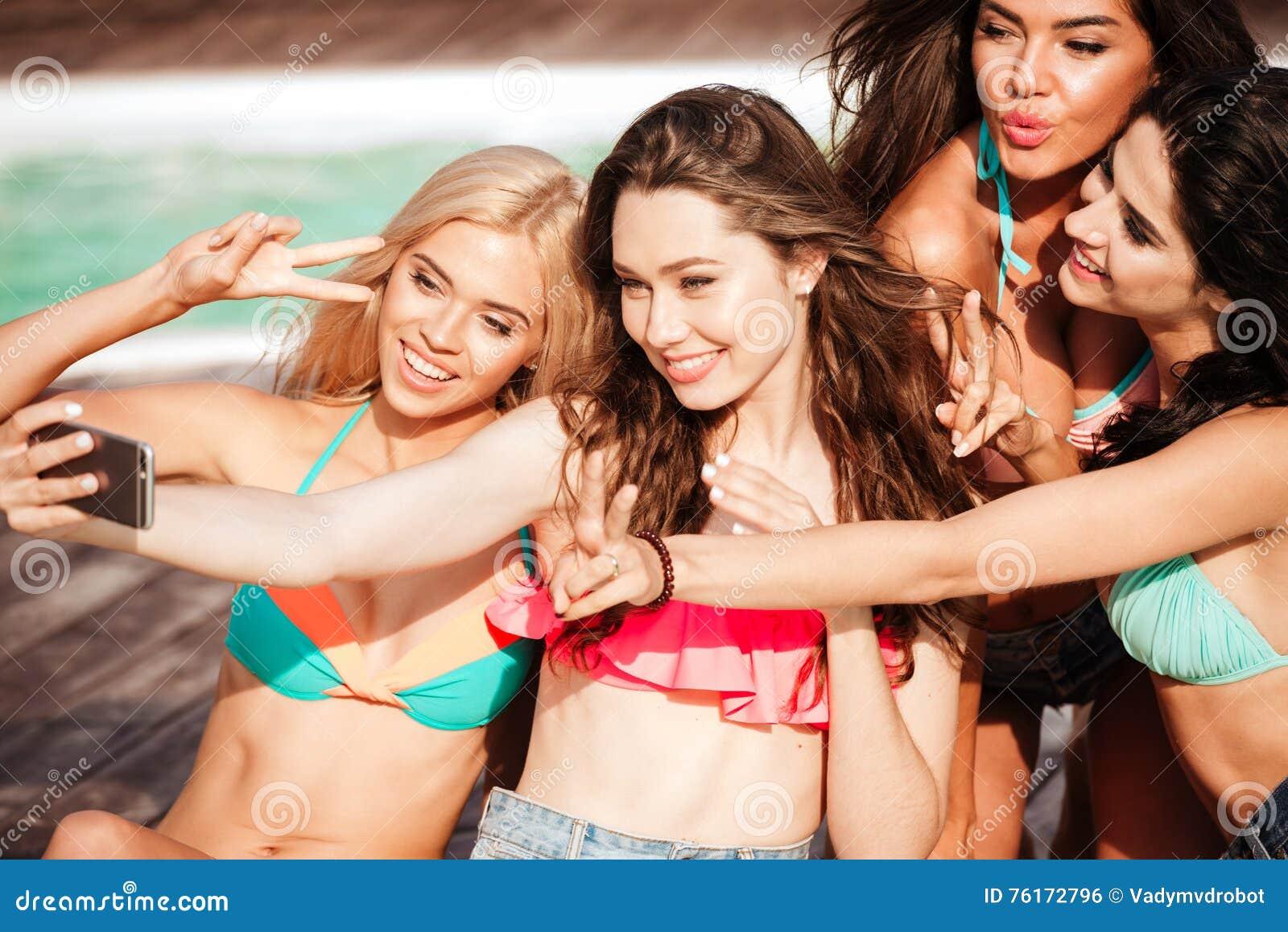girls in bikinis making o