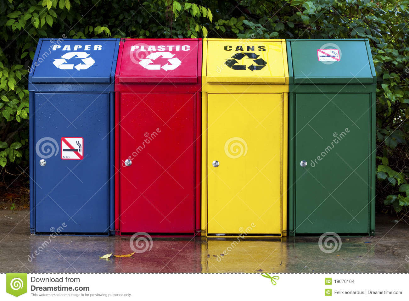 Four Recycling Bin Stock Images Image 19070104