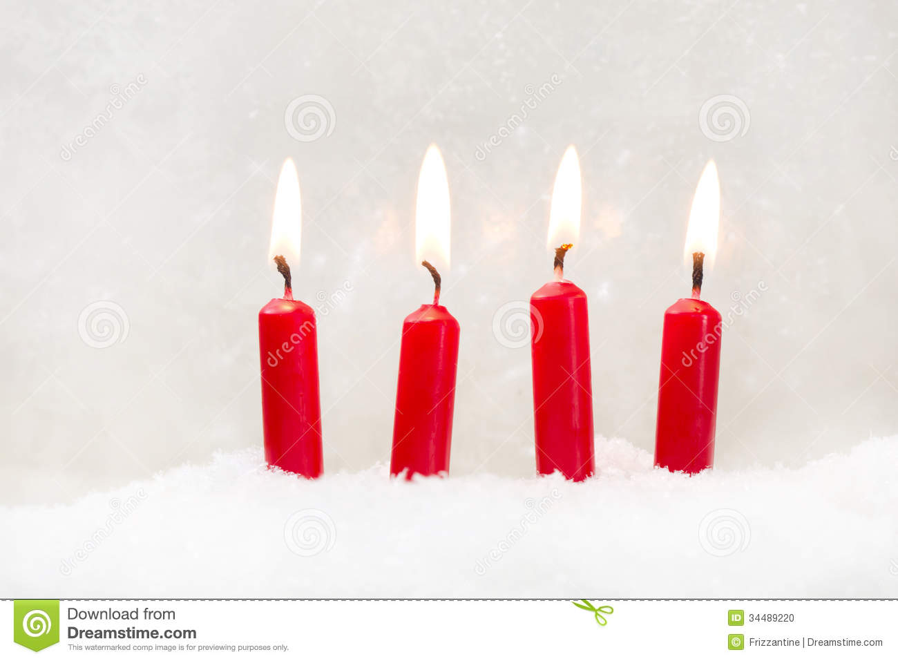 red candle white background - photo #1