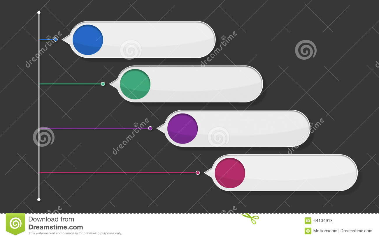 Four Square Intro Title Box Chart,powerpoint Presentation Template ...