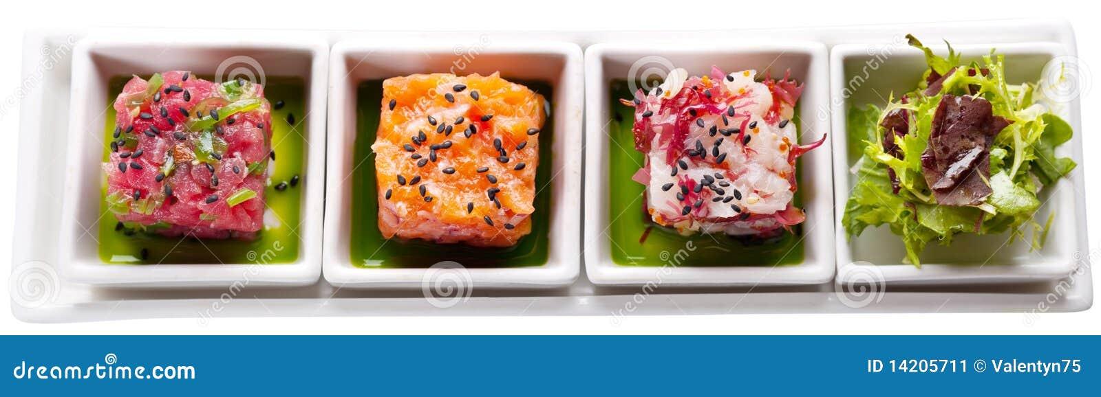 Four sea foods