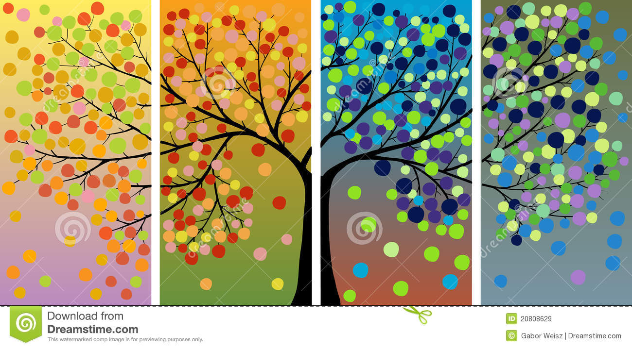 Four season tree decoration royalty free stock images for 4 seasons decoration