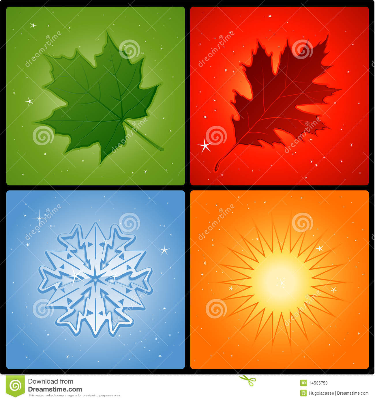 Four Seasons Royalty Free Stock Photos - Image: 14535758