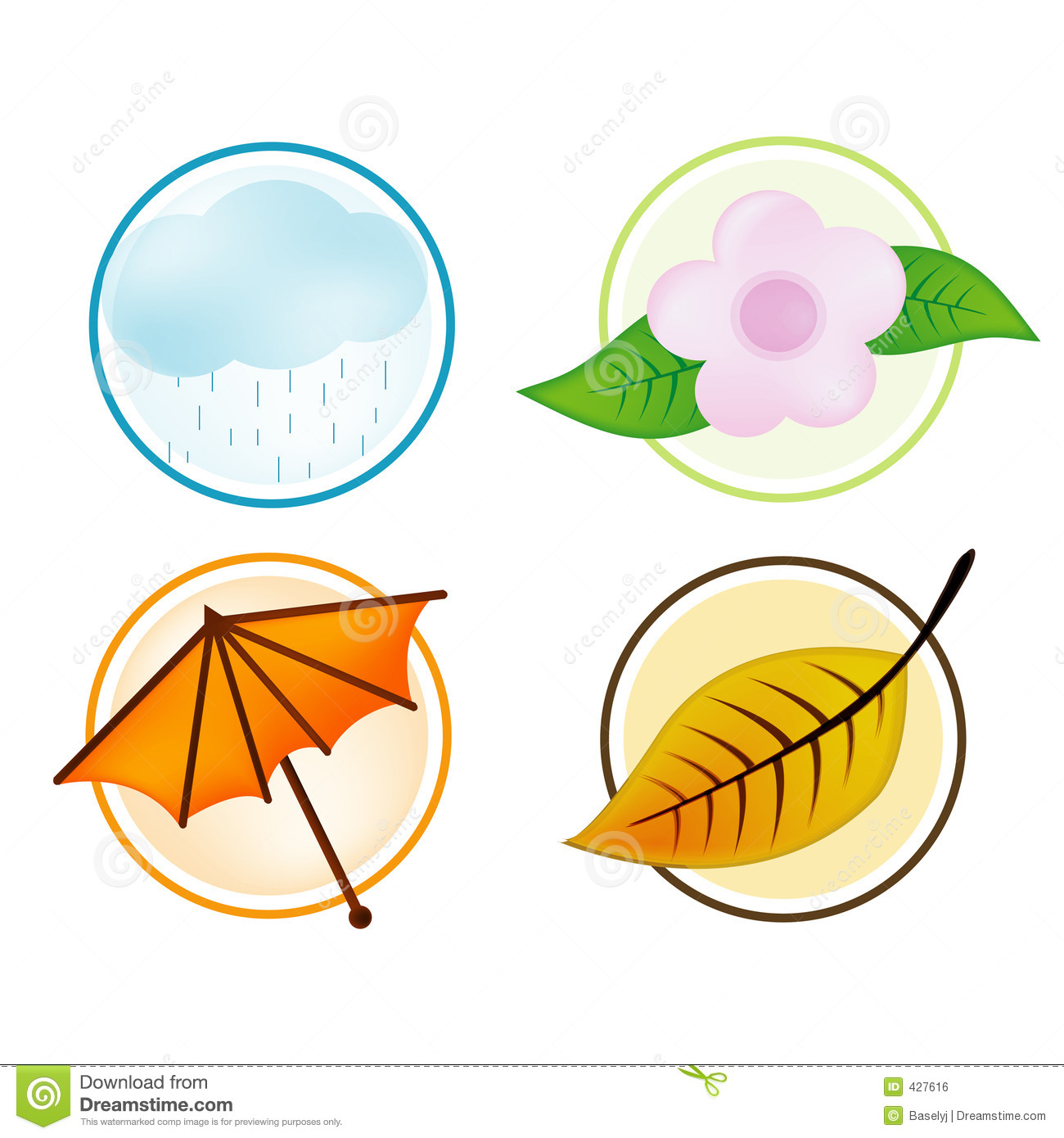 Seasons Clip Art Free