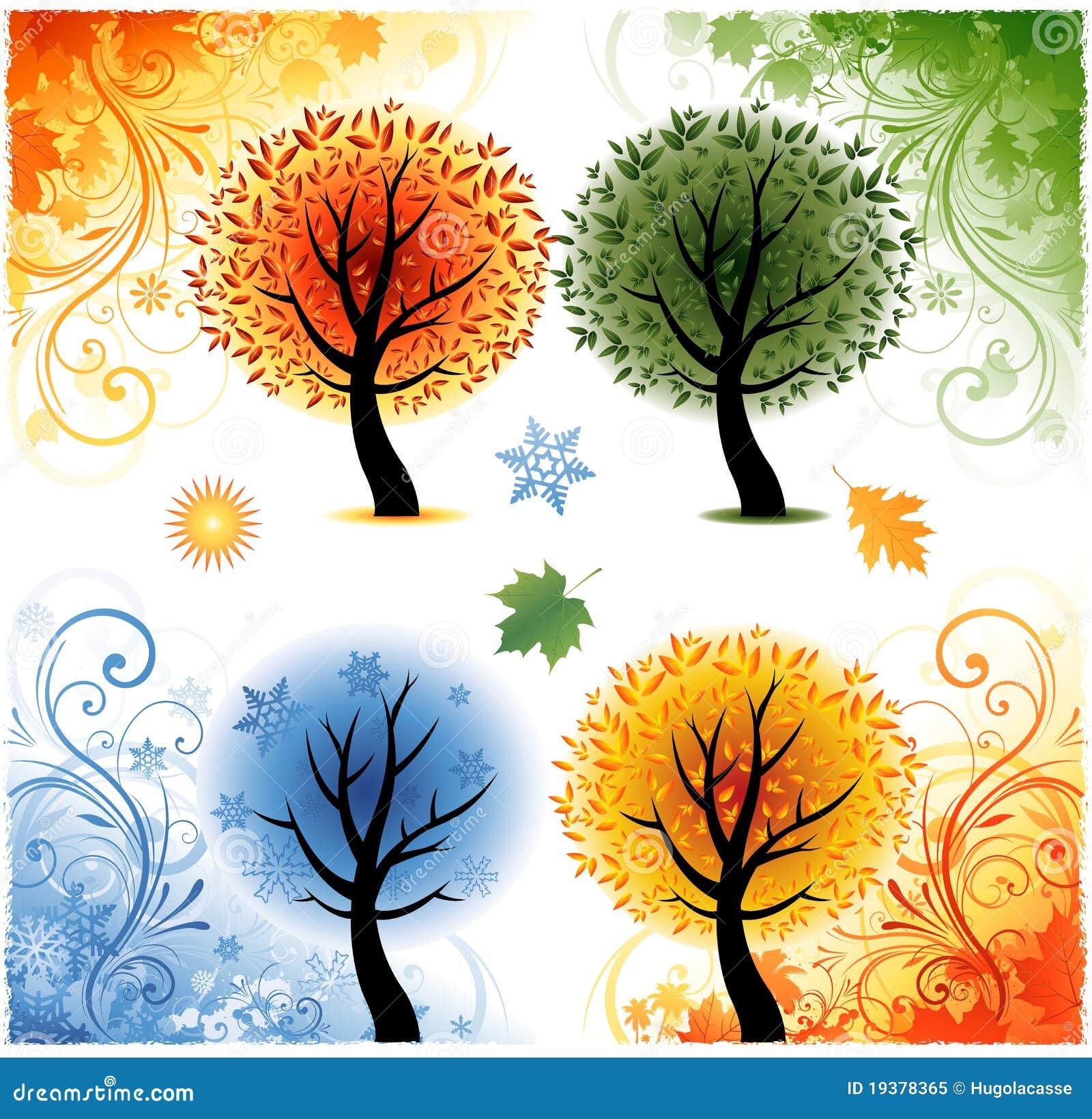 Four Seasons Background Royalty Free Stock Photo - Image: 19378365