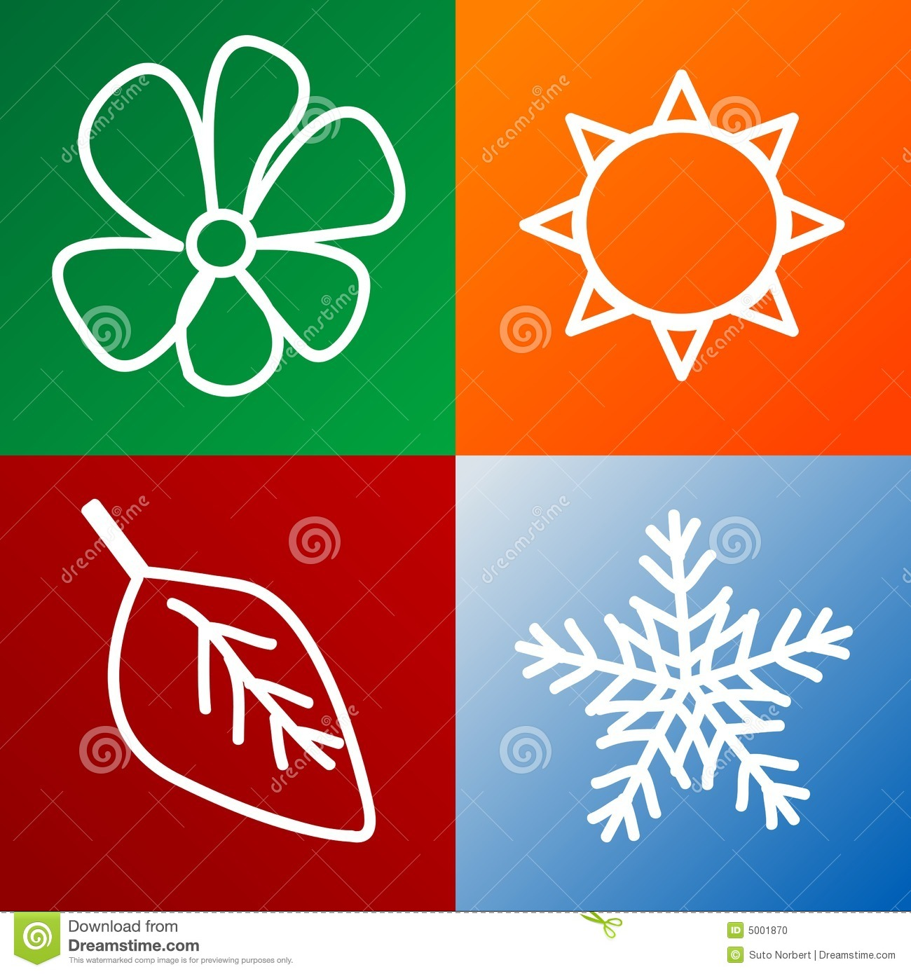 Four Seasons Background Stock Photo Image 5001870