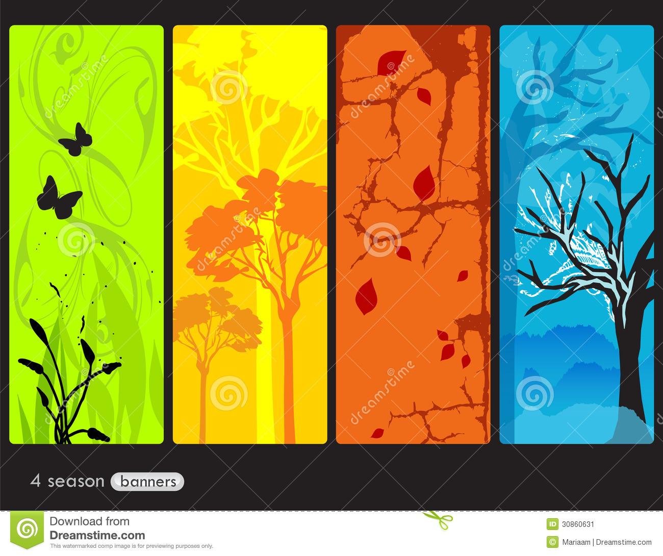 four seasons banners stock illustration illustration of artistic