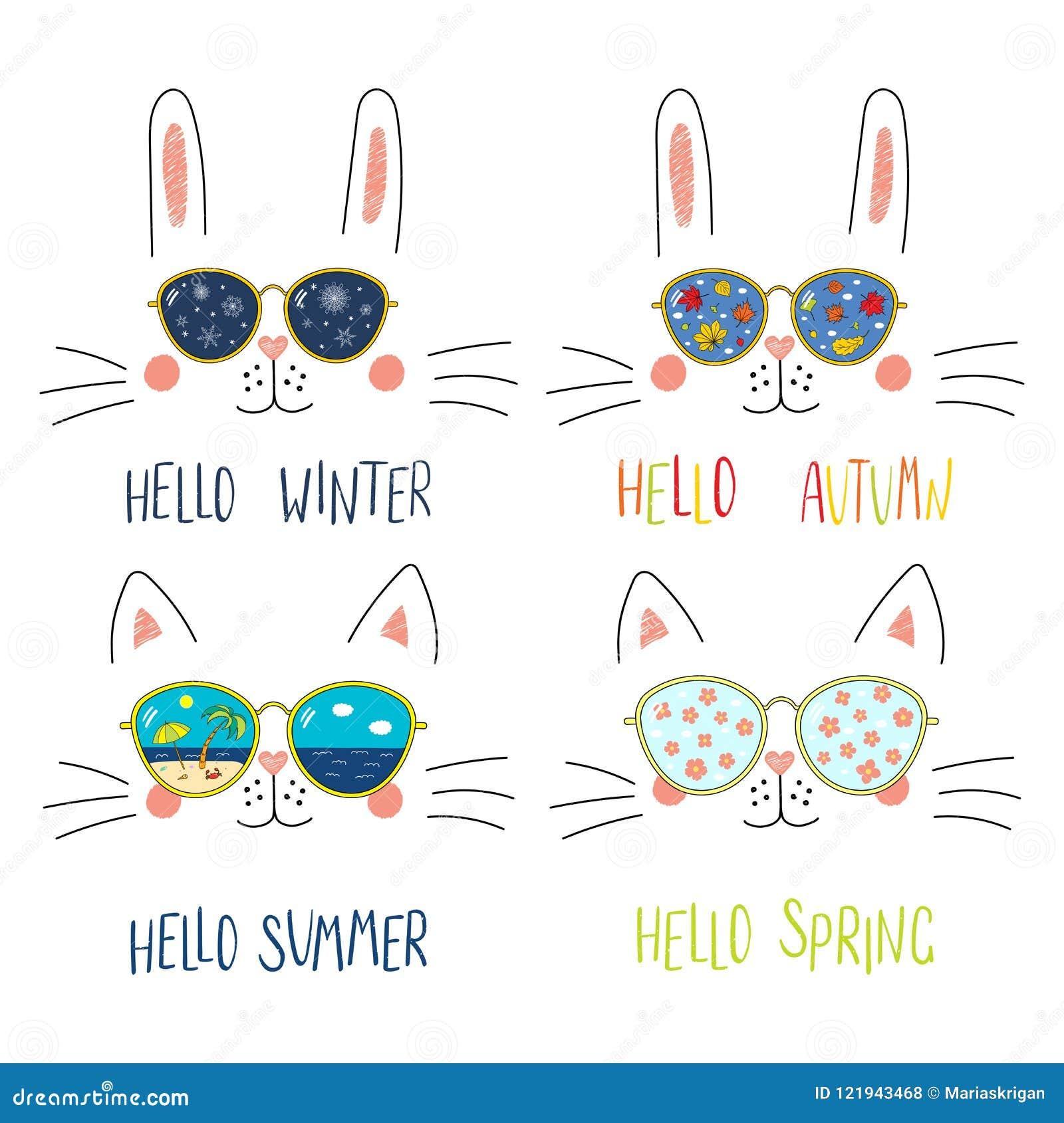 42366845c9 Four Seasons Cute Cat