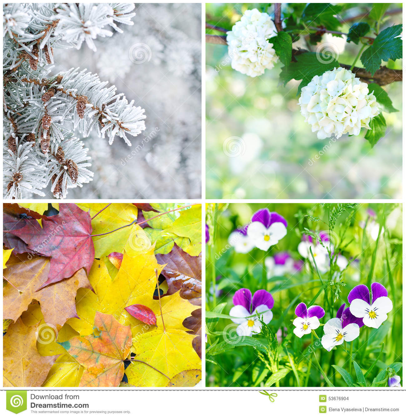 Four seasons spring summer autumn winter royalty free stock photography - Autumn plowing time all set for winter ...