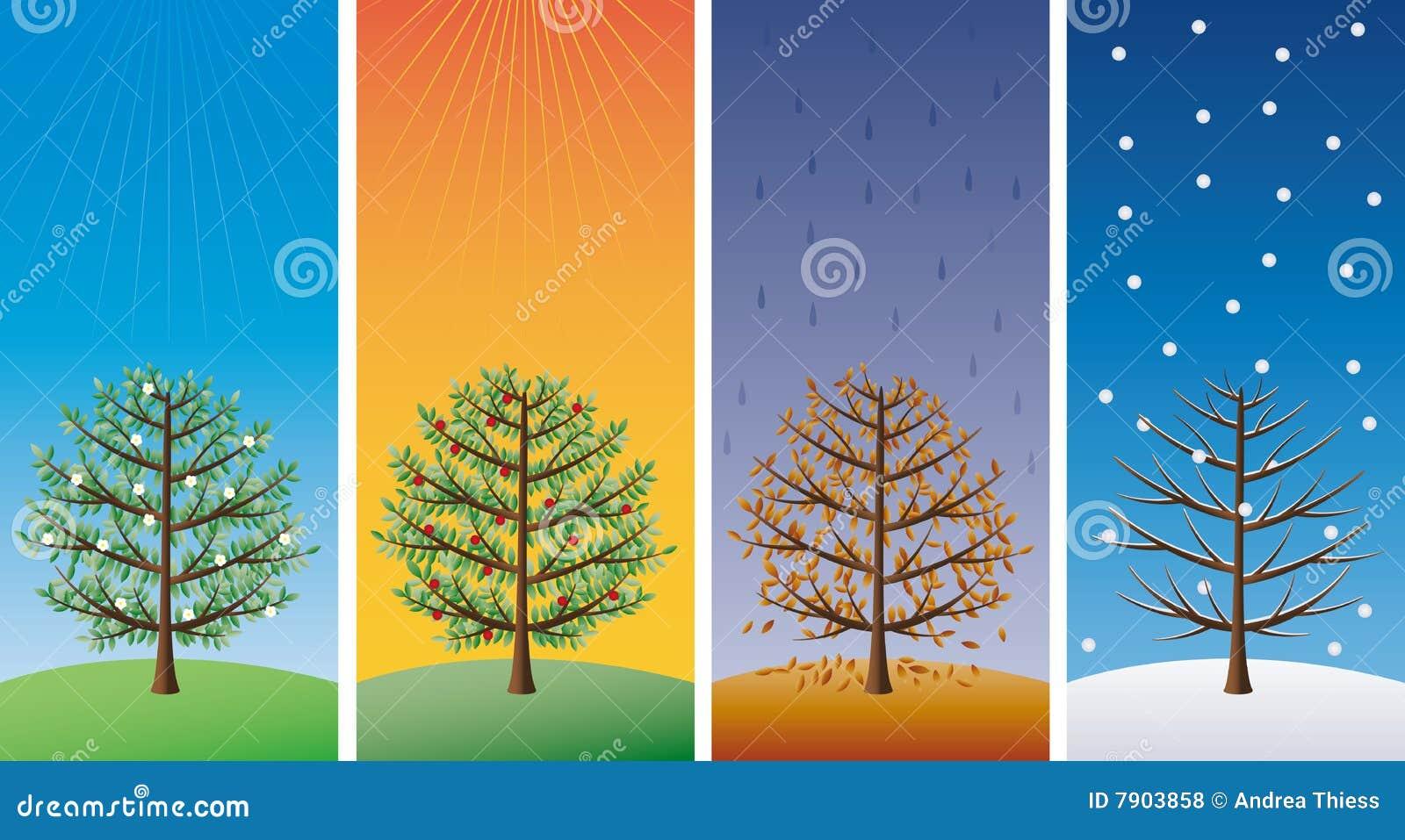 four seasons vector stock vector 17994100 shutterstock cartoon