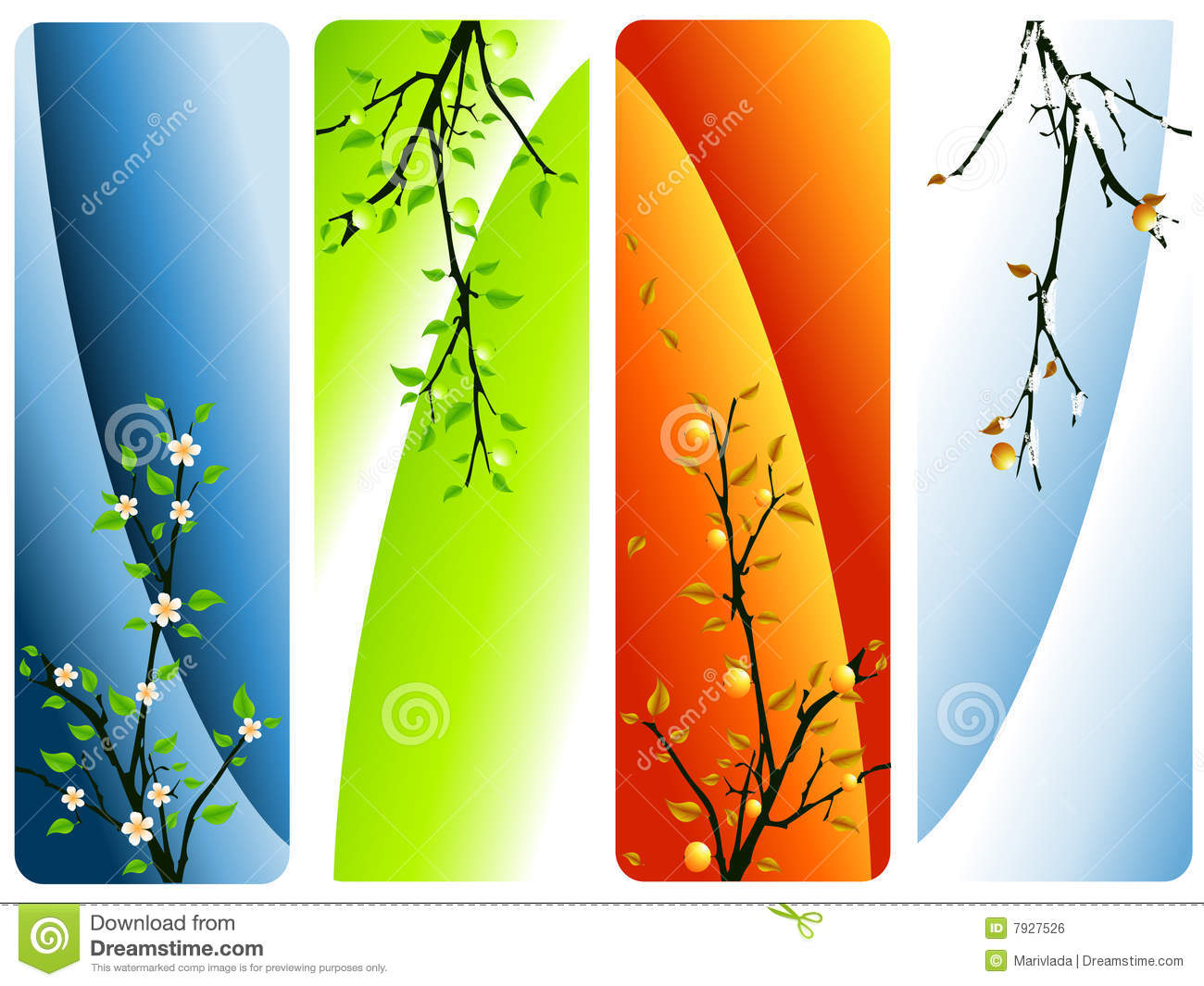 Four Seasons Vector Royalty Free Stock Image Image 7927526