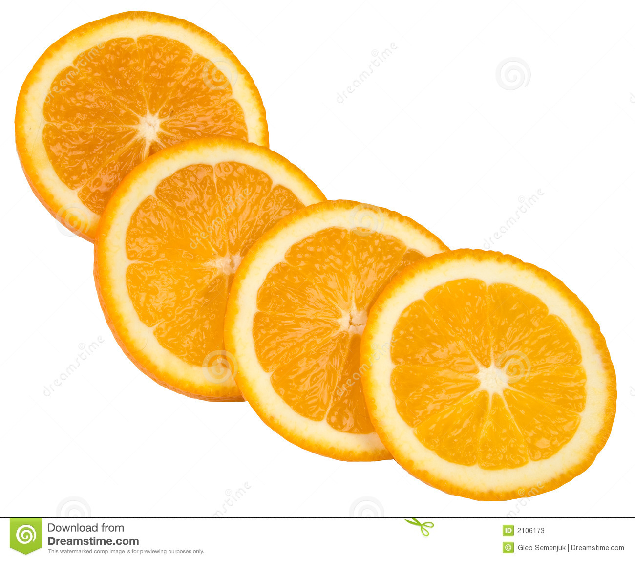 Orange Slices Clipart Four slices of orange in