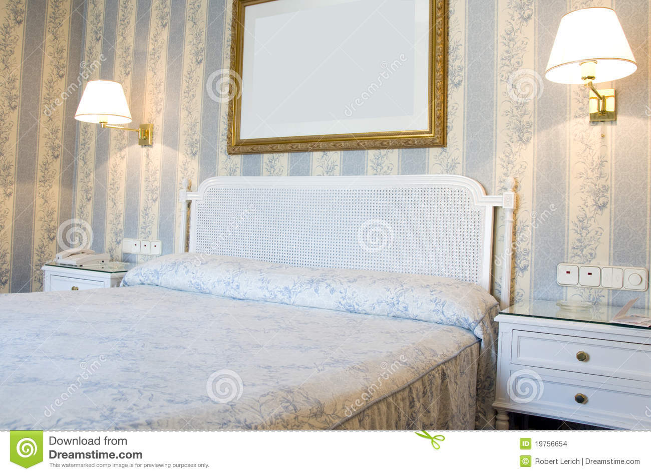 Four Star Hotel Room Interior Madrid Spain Stock Images