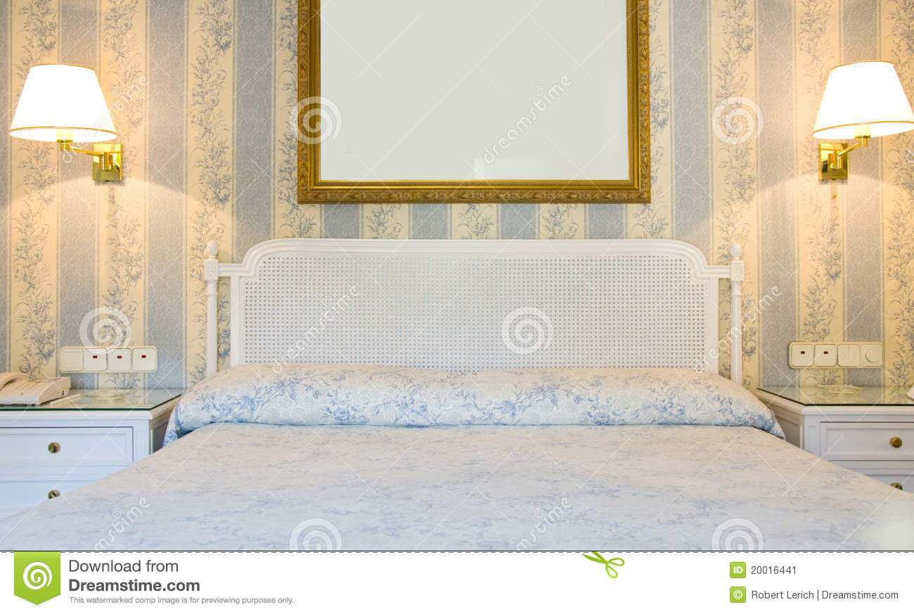Four Star Hotel Room Interior Madrid Spain Stock Image