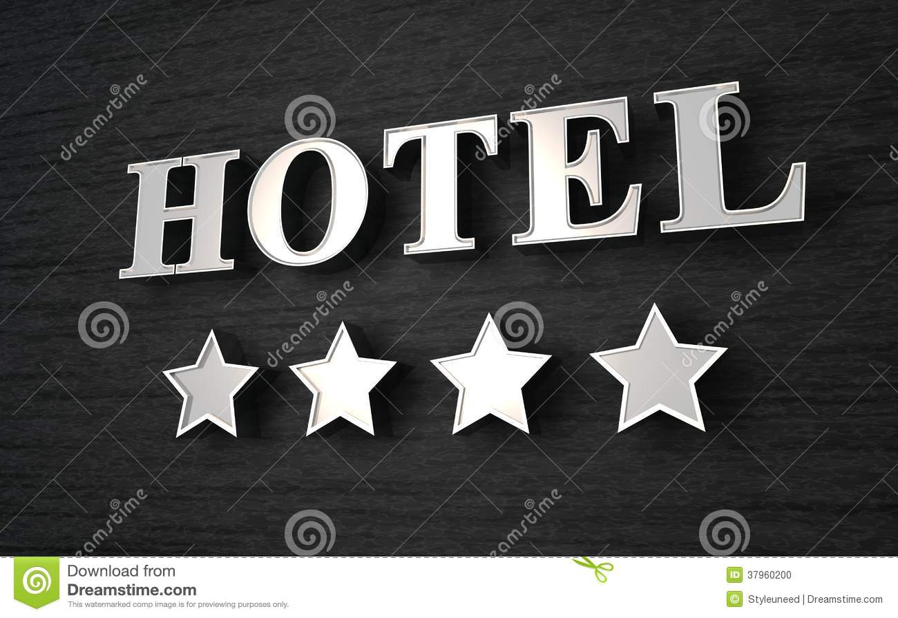 Four star hotel sign stock illustration image of black for 4 star hotel