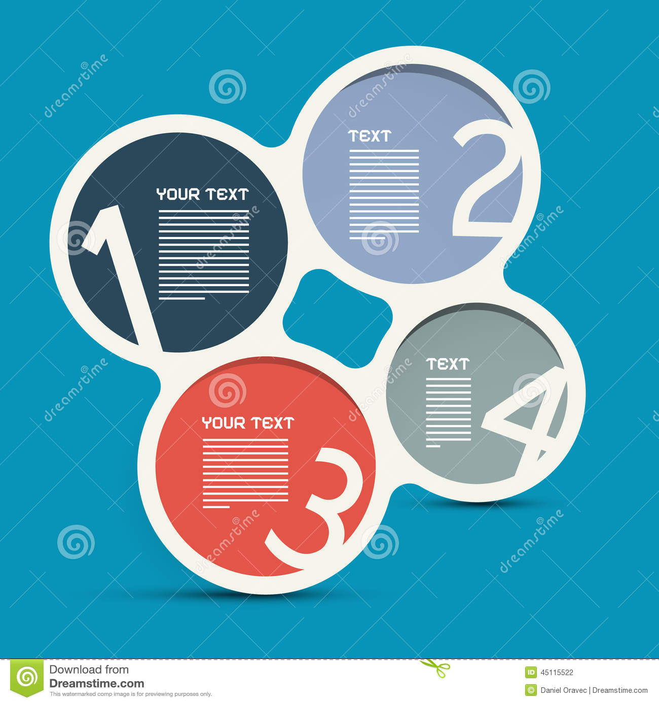 Download Four Steps Circle Infographic Layout Stock Vector - Illustration of education, options: 45115522