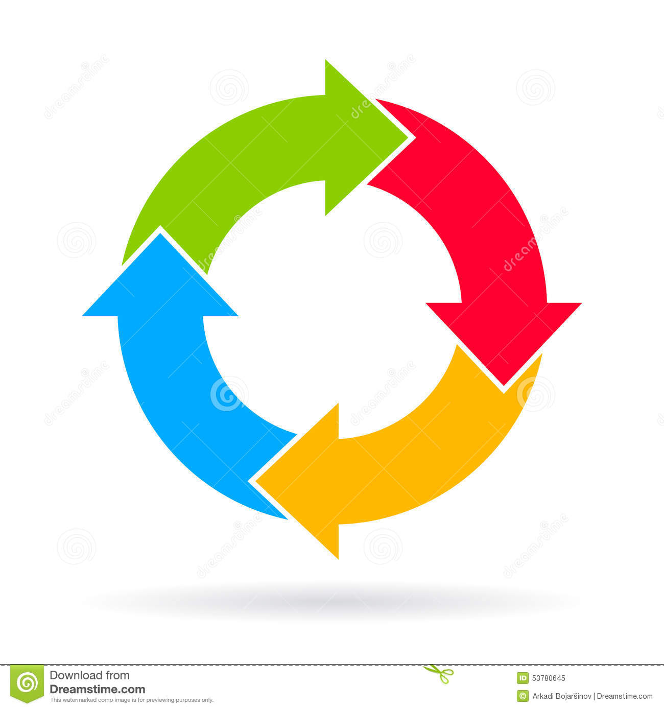 four part cycle diagram stock vector image 47431816 : cycle diagram - findchart.co