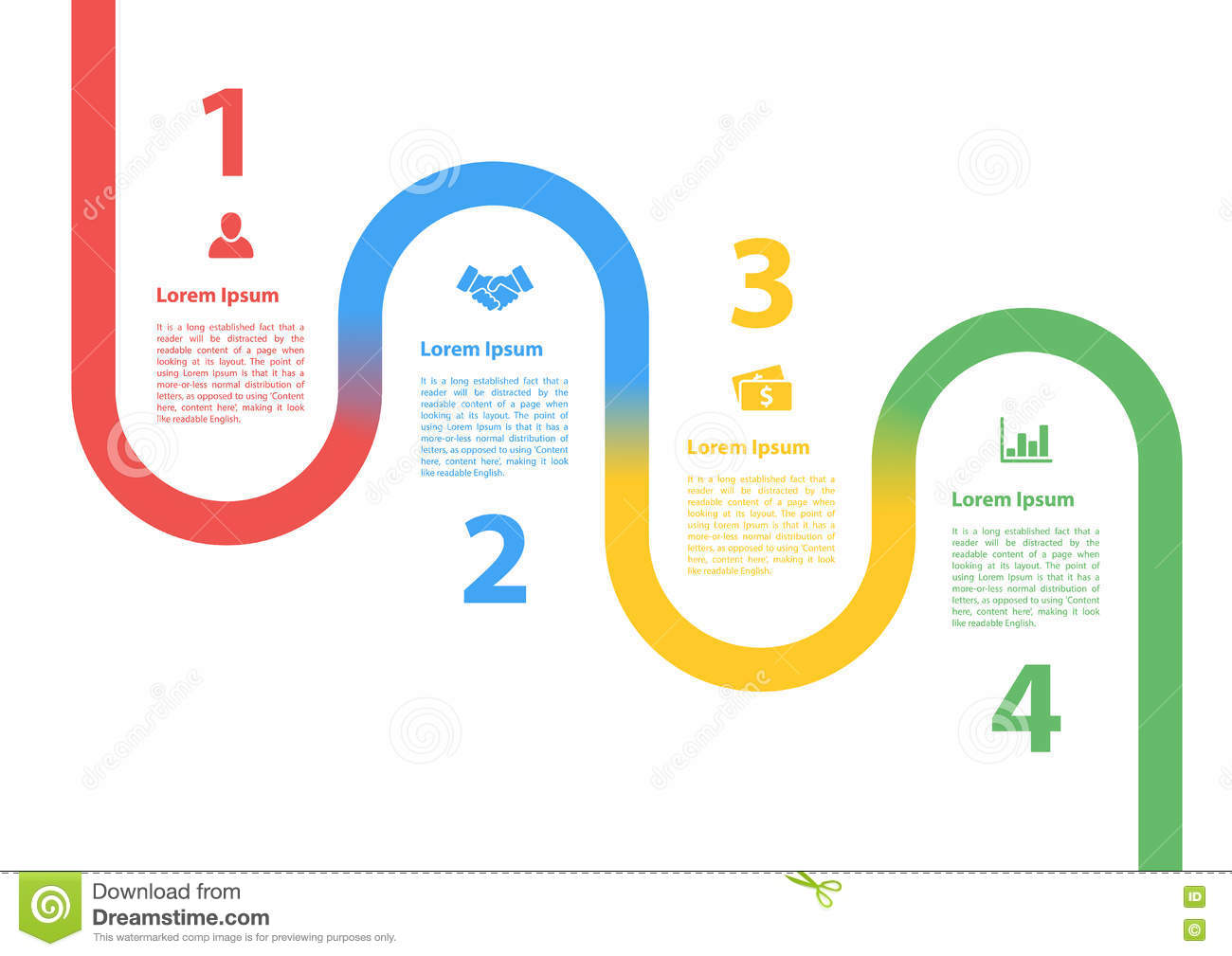 Four Steps Sequence Process Diagram Infographic Layout Concept Stock ...