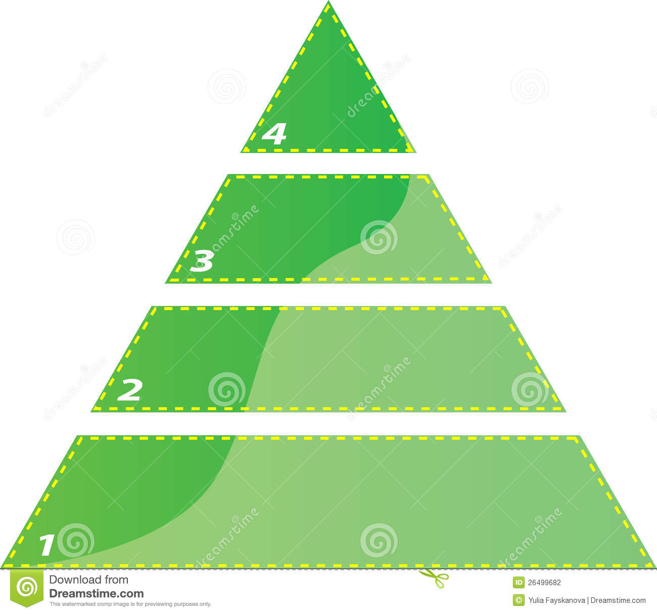 Four Steps Triangle    Diagram    Stock Vector  Illustration of