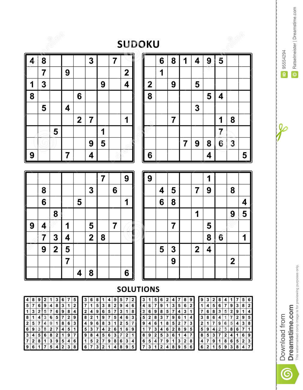 Sudoku Puzzles And Answers Pdf